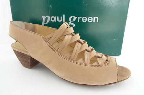 PAUL GREEN Beige Nubuck Open Toe Sandal 9(6.5UK)