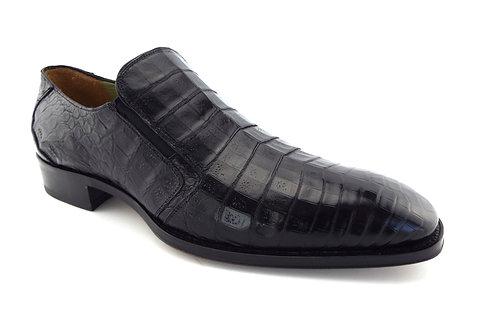 MEZLAN Black Genuine Crocodile Loafers 9.5