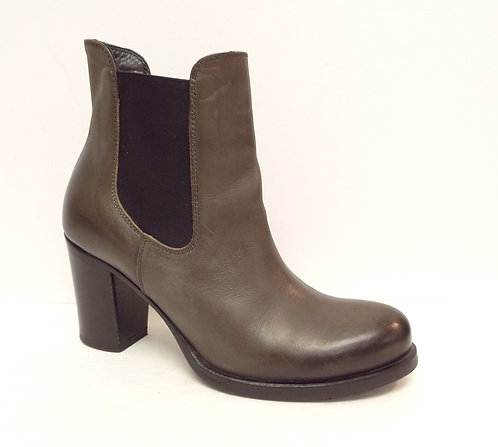 ALBERTO FERMANI Taupe Leather Ankle Boot