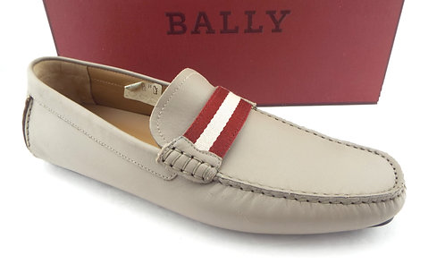 BALLY Taupe Driving Moccasin Loafers 10