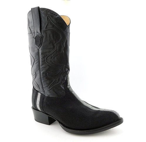 WILD WEST WESTERN Black Stingray Cowboy Boots 11EE