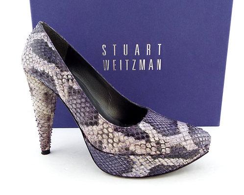STUART WEITZMAN Purple Snake Platform Pumps 5.5