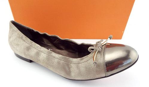 AGL Cap Toe Bow Ginger Gold Ballet Flats 40.5