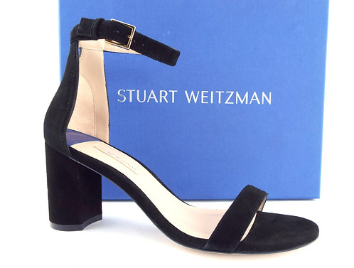 STUART WEITZMAN Black Block Heel Sandals 8