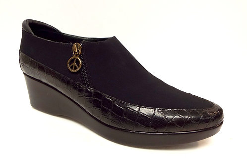 DONALD PLINER Black SANA Platform Loafer
