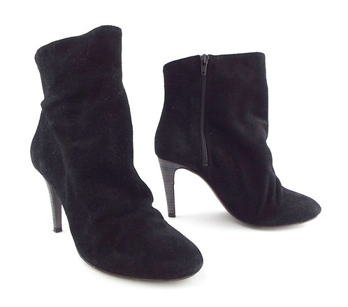 FREE PEOPLE Black Suede Slouch Ankle Boots 38
