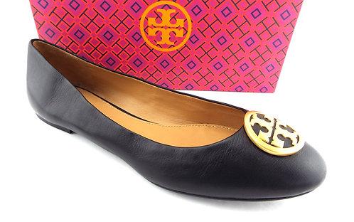 TORY BURCH Logo Black Ballet Flats 13