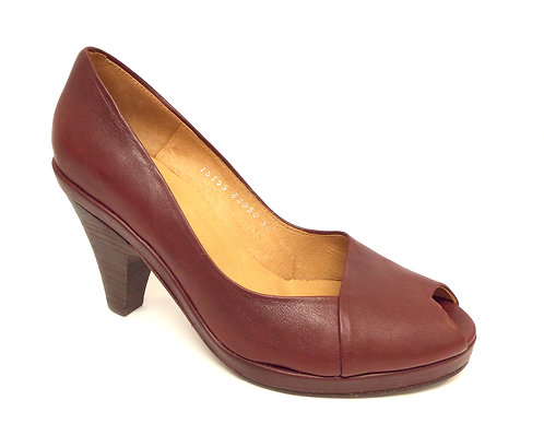 COCLICO Dark Red POLLY Peep Toe Pump 38