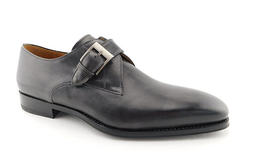 MAGNANNI Smoke Gray Monk Strap Tudanca Loafers 12