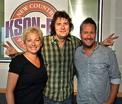 Chris Carpenter performing music on KSON Radio Write a Tune Tuesday
