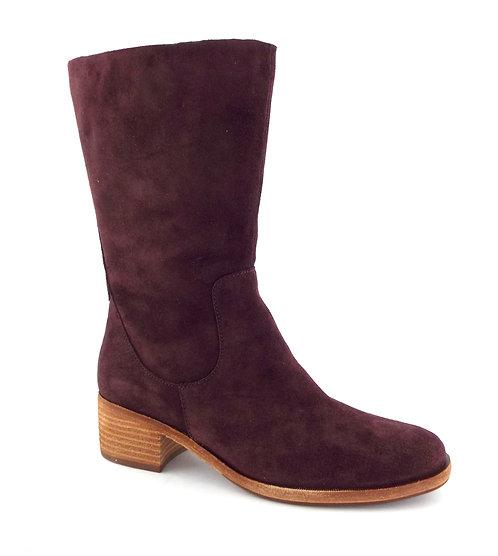 KORK-EASE Burgundy Suede Block Heel Boots 7