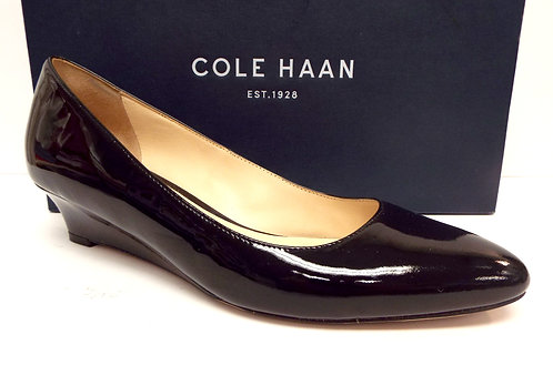 COLE HAAN Black Patent Wedge Heel 8.5