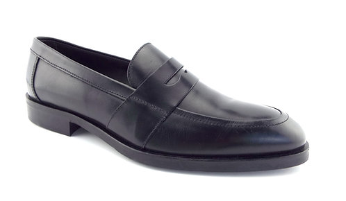 TO BOOT NEW YORK Black Leather Penny Loafers 9