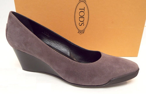 TODS Light Purple Suede Wedge Heel 38.5 / 8