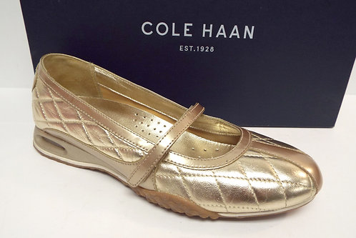 COLE HAAN Air Bria Gold Metallic Mary Jane Ballet Flat 5.5