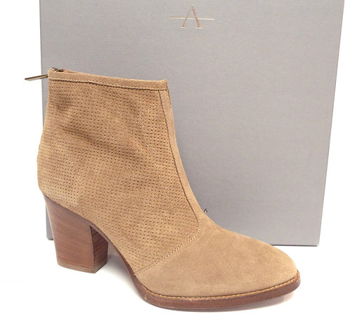 AQUATALIA Beige Perforated Suede Ankle Boots 7.5