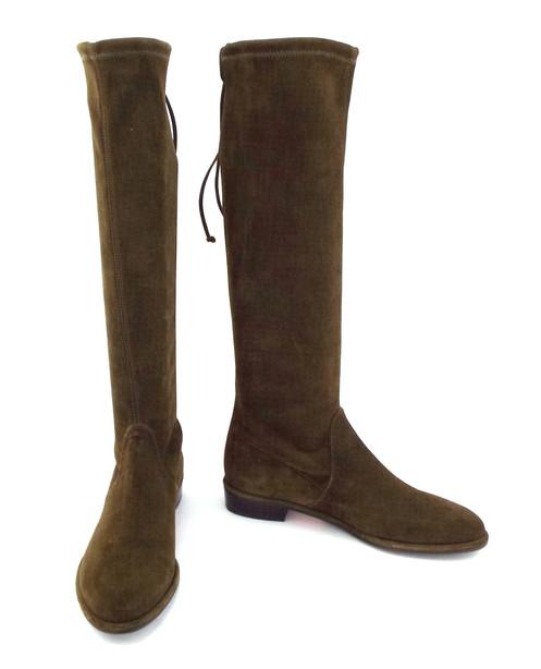 6395f2ed669 STUART WEITZMAN  Kneezie  Olive Stretchy Suede Boots 6.5