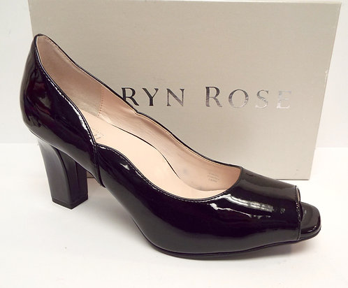 TARYN ROSE FERGAL Black Patent Open Toe Pump 9.5