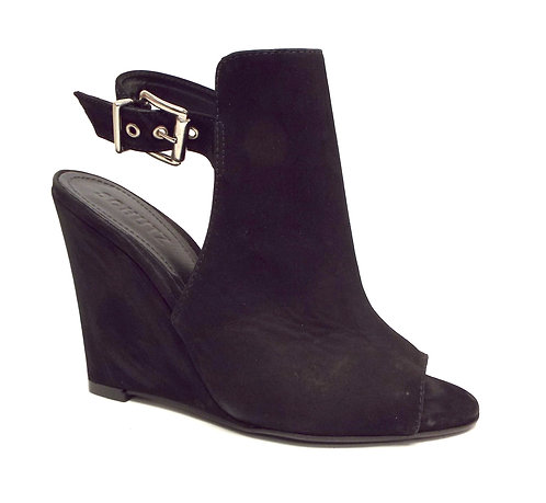 SCHUTZ Black Nubuck Mantle Wedge 7