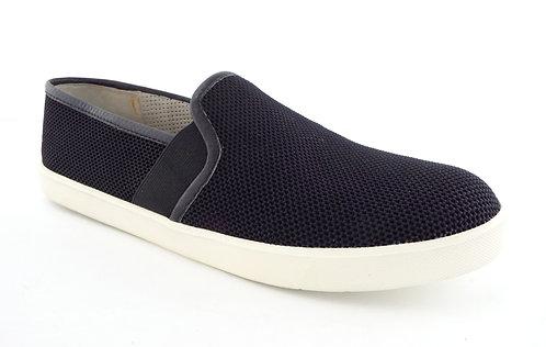 VINCE Black Suede Perforated Slip On Sneakers 41
