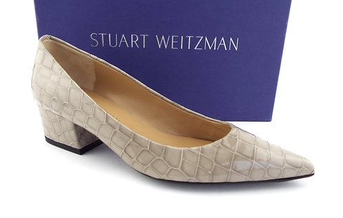 STUART WEITZMAN Alligator Block Heel Pumps 6