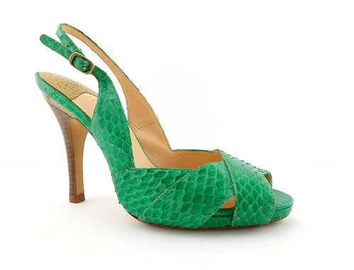 COLE HAAN Nike Air Green Snake Sling Heel Pumps 6