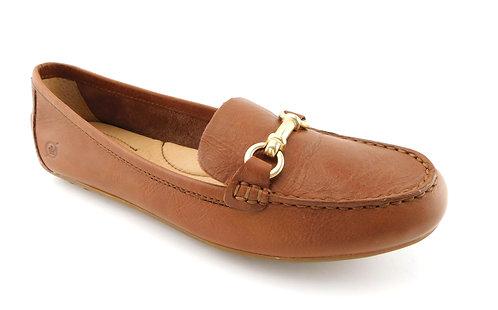 BORN Brown Gancini Horse Bit Loafer Flats 8.5