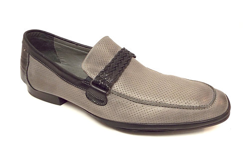 KENNETH COLE OPTIC DISC Gray Leather Loafer 11.5