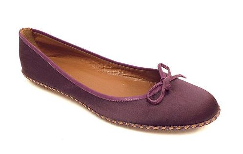 MARC JACOBS Purple Satin Ballet Flat