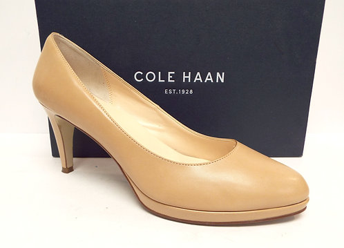 COLE HAAN Beige Leather Platform Pump 10