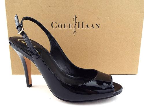 COLE HAAN Nike Air Black Patent Slingback 6.5