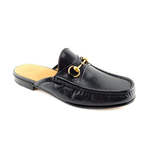 GUCCI Size 9 UK / 10 US Quentin Open Roos Black Leather Mules Loafer Shoes