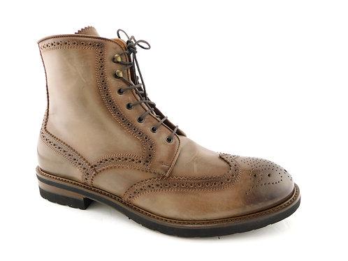 ANTONIO MAURIZI Brown Wingtip Brogue Boots 43EU