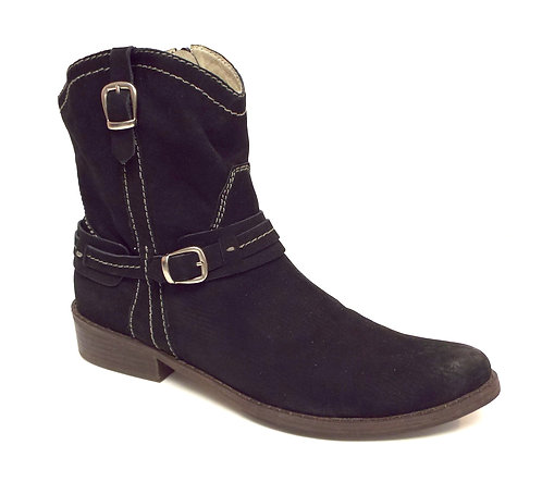 BERNARDO LARAMIE Black Suede Ankle Boot 10