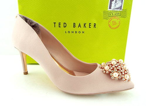 TED BAKER Jeweled Pink Pumps Shoes 37.5/7