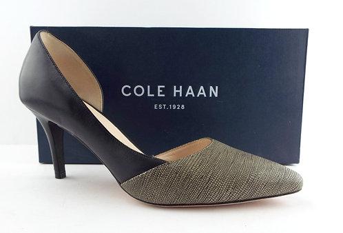 COLE HAAN Black D'Orsay Heels 7.5