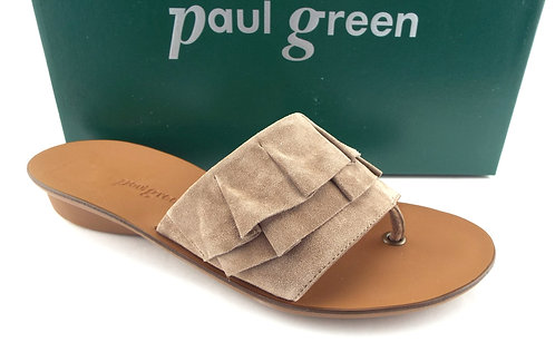PAUL GREEN Beige Ruffle Thong Sandal UK5.5/US8