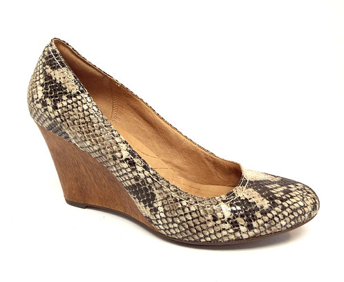 CLARKS Indigo Snake Print Leather Wedge 9