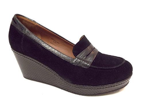 DONALD J PLINER Black Suede GENIVA Platform Loafer