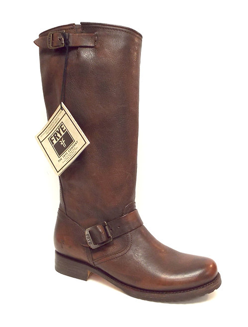 FRYE VERONICA SLOUCH Dark Brown Moto Boot 10