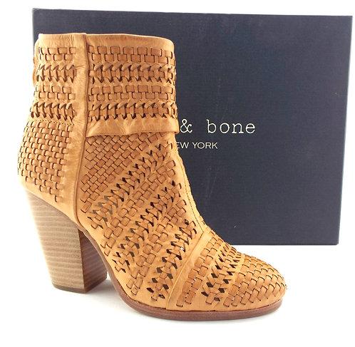 RAG&BONE Natural Woven Chunky Heel booties 37