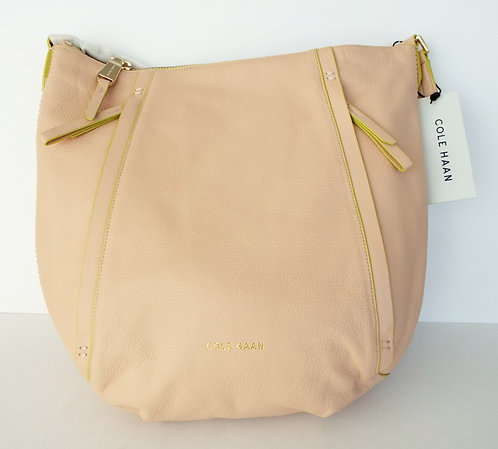 COLE HAAN Natural Tan Hobo Tote Shoulder Bag