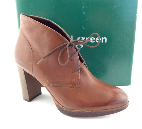 e213ecbe0af9 PAUL GREEN Brown Lace Up Booties UK5.5 US8