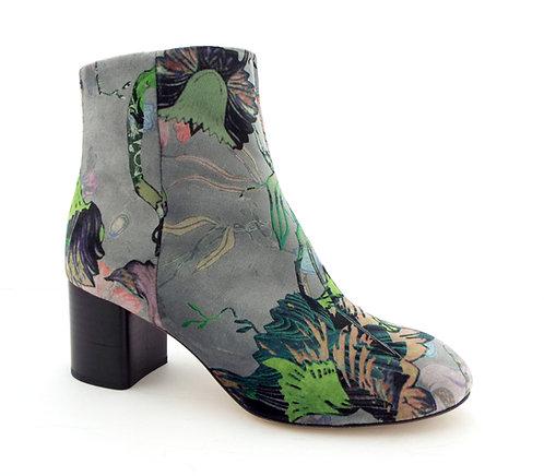 RAG & BONE DREA Floral Velvet Ankle Boots 37.5