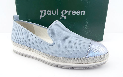 PAUL GREEN Sky Blue Espadrille Loafers 4UK / 6.5US