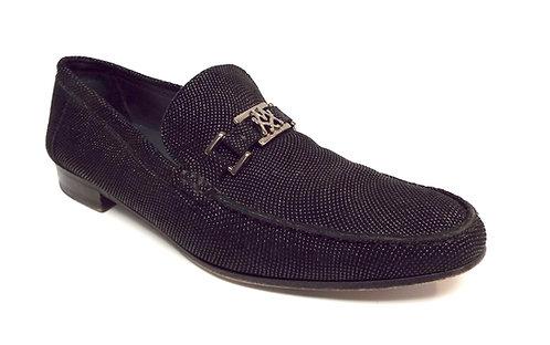MEZLAN Custom Black Pinhead Suede Leather Loafer 11