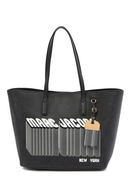 MARC JACOBS Black Saffiano Shopper Tote Bag