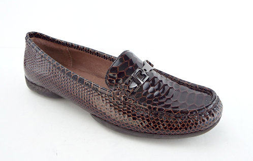 DONALD PLINER VEEO Brown Snake Print Leather Loafer 8