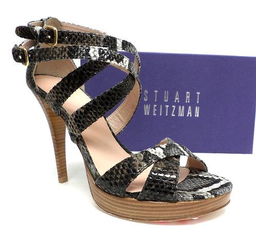 STUART WEITZMAN Python Snake Platform Sandals