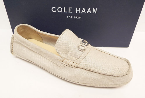COLE HAAN Off White SHELBY Driver Moccasin Loafer 8.5